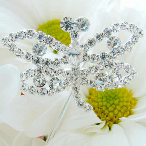 Dragonfly Crystal Bridal Wedding Bouquet Jewelry (Set of 2)