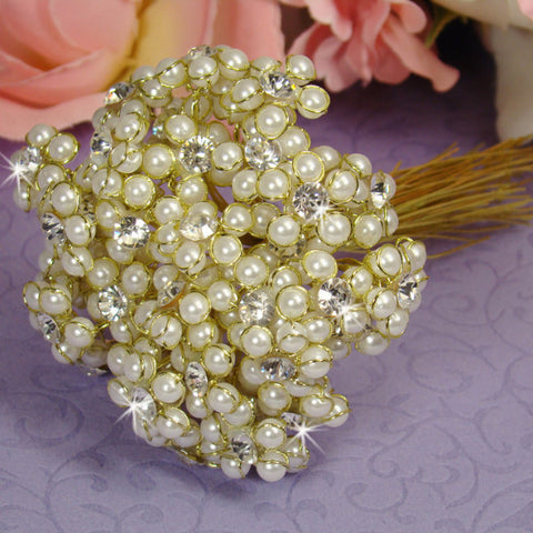 Ivory Elegant Pearl & Flower Bundle 474