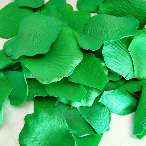 100 Green Artificial Bridal Wedding & Formal Silk Rose Petals