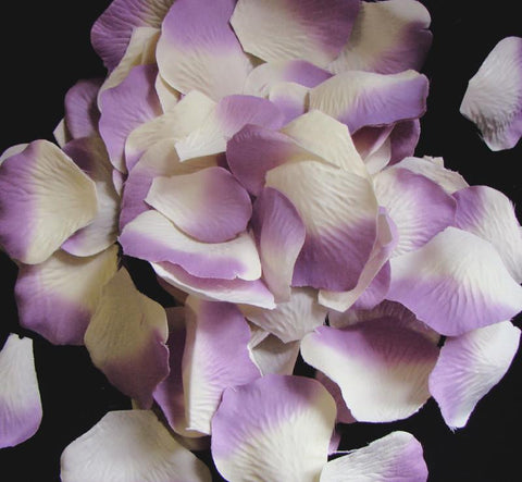 100 Ivory Lavender Artificial Bridal Wedding & Formal Silk Rose Petals
