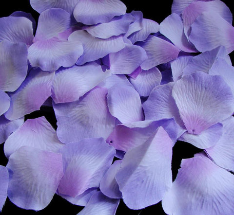 100 Lavender Three Tones Artificial Bridal Wedding & Formal Silk Rose Petals