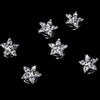 12 Wonderful Silver Clear Rhinestone Star Bridal Wedding Twist Ins 0119