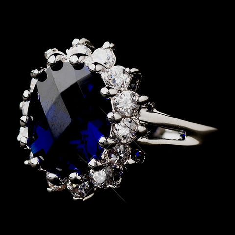 Royal Princess Kate Middleton Inspired Sapphire CZ Bridal Wedding Ring 5691