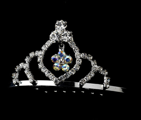 * Silver with AB Crystals Child's Bridal Wedding Tiara HPC 241