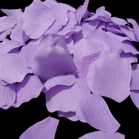 100/500 Lavender Artificial Bridal Wedding & Formal Silk Rose Petals