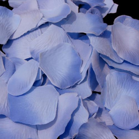 100/500 Periwinkle Two Tone Artificial Bridal Wedding & Formal Silk Rose Petals