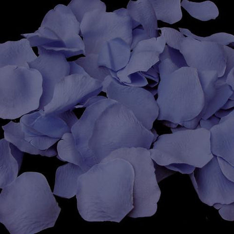 100 True Periwinkle Artificial Bridal Wedding & Formal Silk Rose Petals
