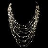 14 Strand Silk w/ Freshwater Pearl Bridal Wedding Necklace 7828