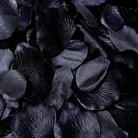 100 Black Bridal Wedding & Formal Silk Rose Petals