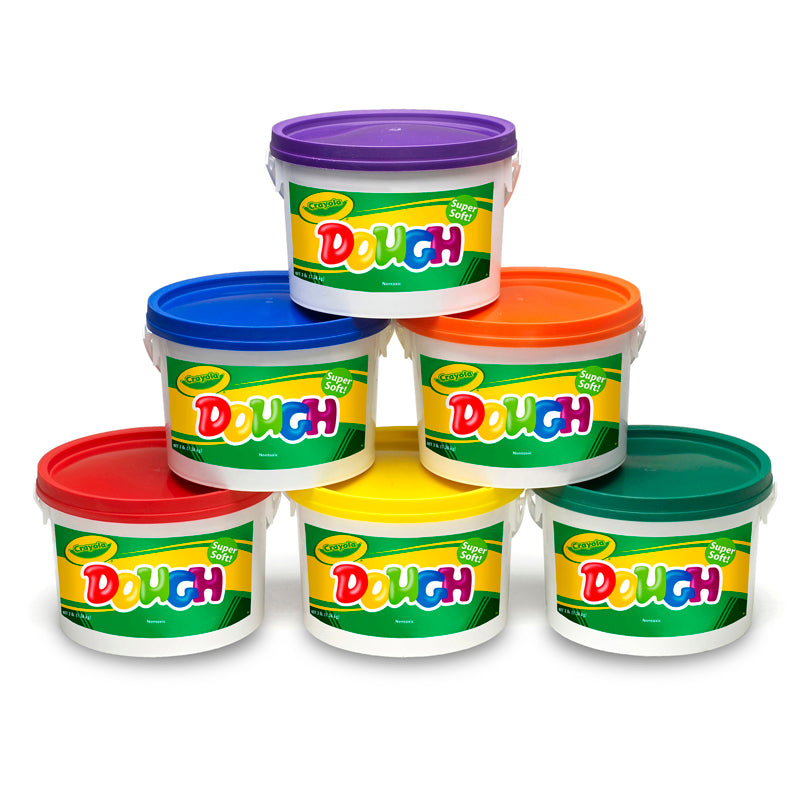#4073 CRAYOLA DOUGH SET OF 6 TUBS RED ORANGE GREEN YELLOW PURPLE BLUE