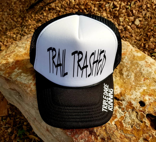 Trail Trashed Trucker - iron ons or embroidered