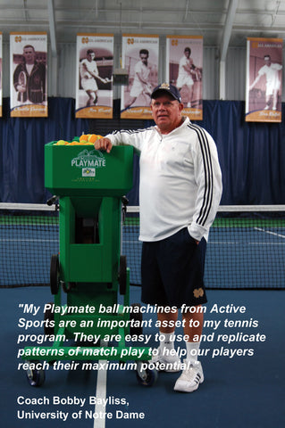 Coach Bobby Bayliss endorses Active Sports for Playmate sales & service.