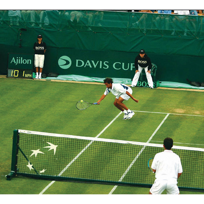 Edwards Deluxe Portable Net System in use at Davis Cup
