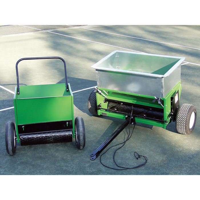 Tru-Flo Clay Court Top Dresser in Hand and Tow Models