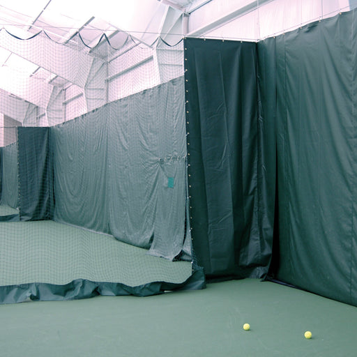 Tennis Court Vinyl Curtains and Protective Padding