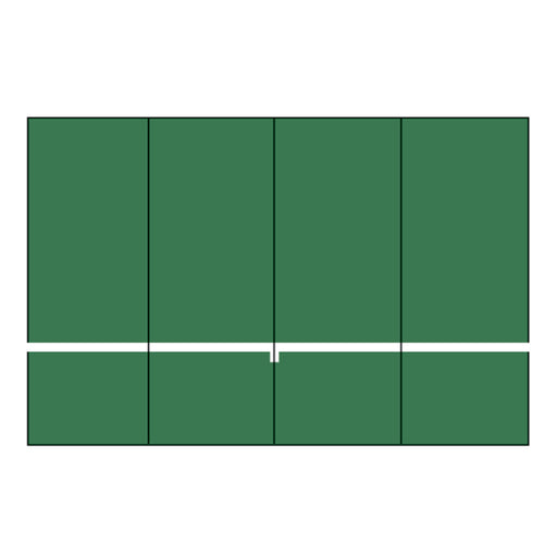 Bakko Slimline Flat Series 8' High Backboard