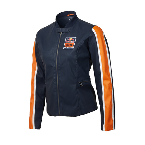 2e64ff8bac9 Red Bull KTM Racing Team Women s Faux Leather Moto Jacket