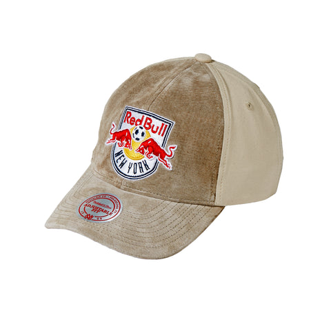 a4530aa2732 New York Red Bulls Mitchell   Ness Sueded Front Strapback