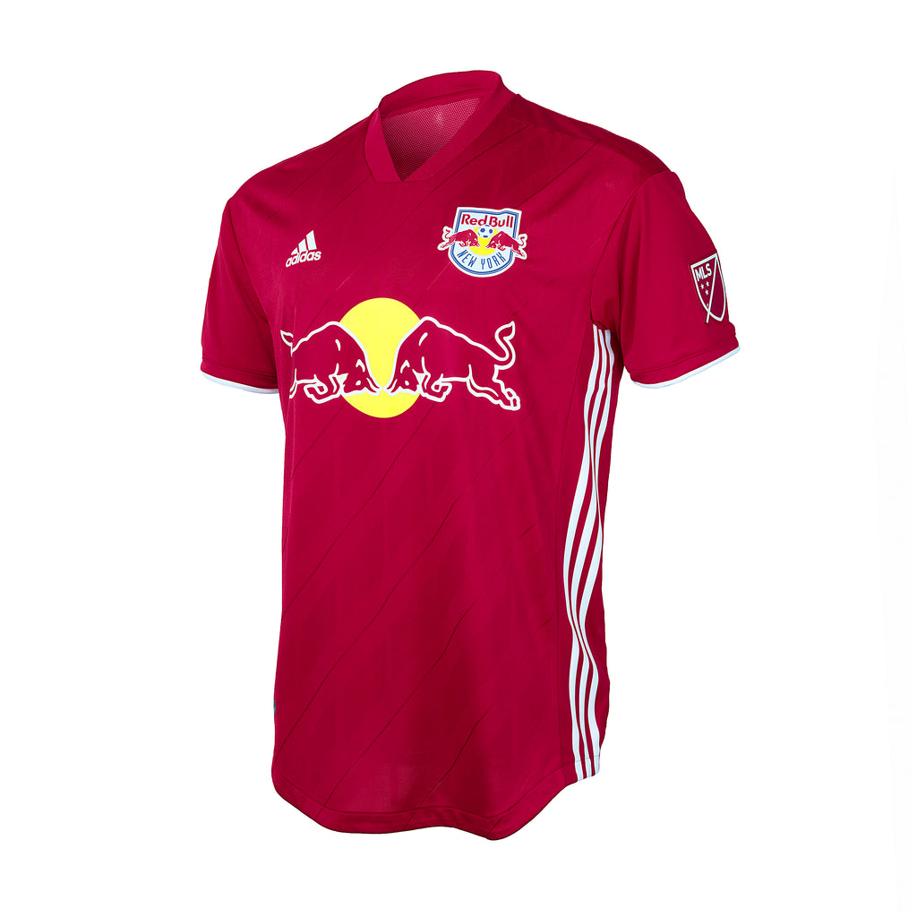 New York Red Bulls adidas 2018 Authentic Secondary Short Sleeve Jersey