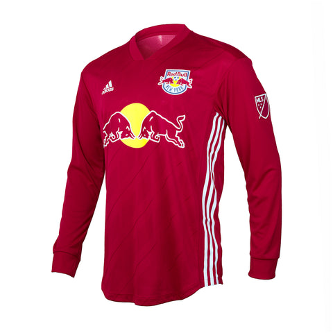 New York Red Bulls adidas 2018 Authentic Secondary Long Sleeve Jersey 90532fc16