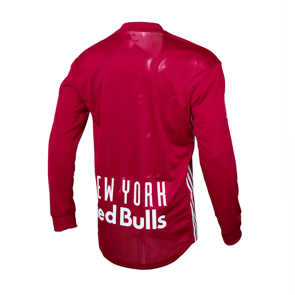 New York Red Bulls adidas 2018 Authentic Secondary Long Sleeve Jersey