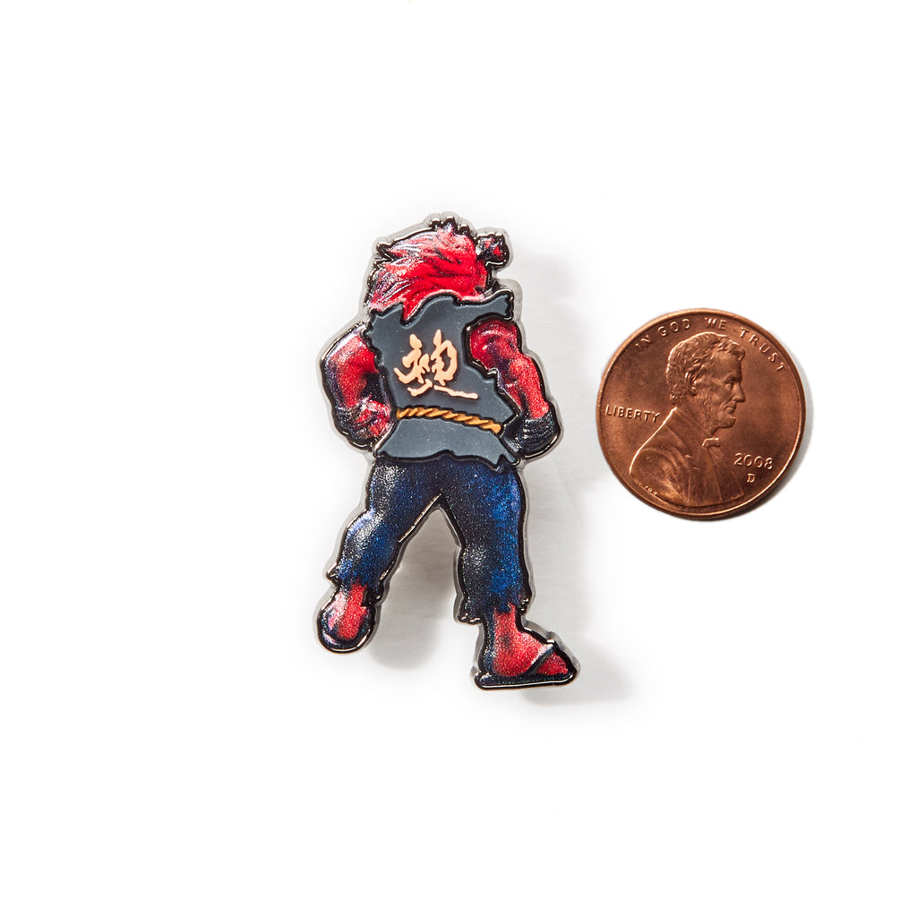 Red Bull Conquest Street Fighter Akuma Pin