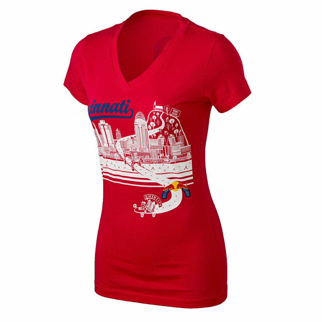 Red Bull Soapbox Women's V-Neck Course Tee