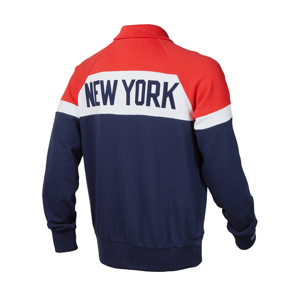 New York Red Bulls Mitchell & Ness Color Blocked French Terry Jacket