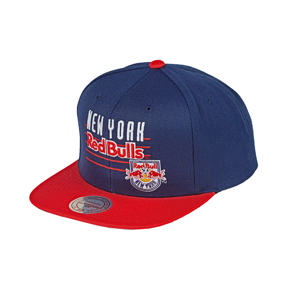 fc38aa09dea52 New York Red Bulls Mitchell   Ness Script with Logo Snapback