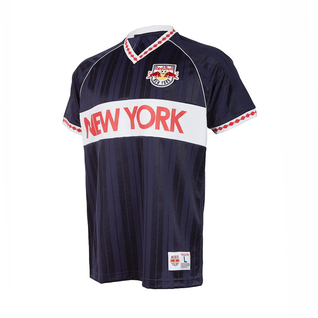New York Red Bulls Mitchell & Ness Penalty Kick V-Neck