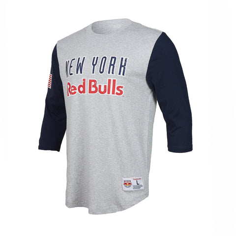 New York Red Bulls Mitchell & Ness Scoring Position 3/4 Sleeve Tee