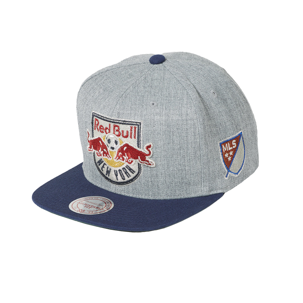New York Red Bulls Mitchell & Ness Metallic XL Logo Snapback
