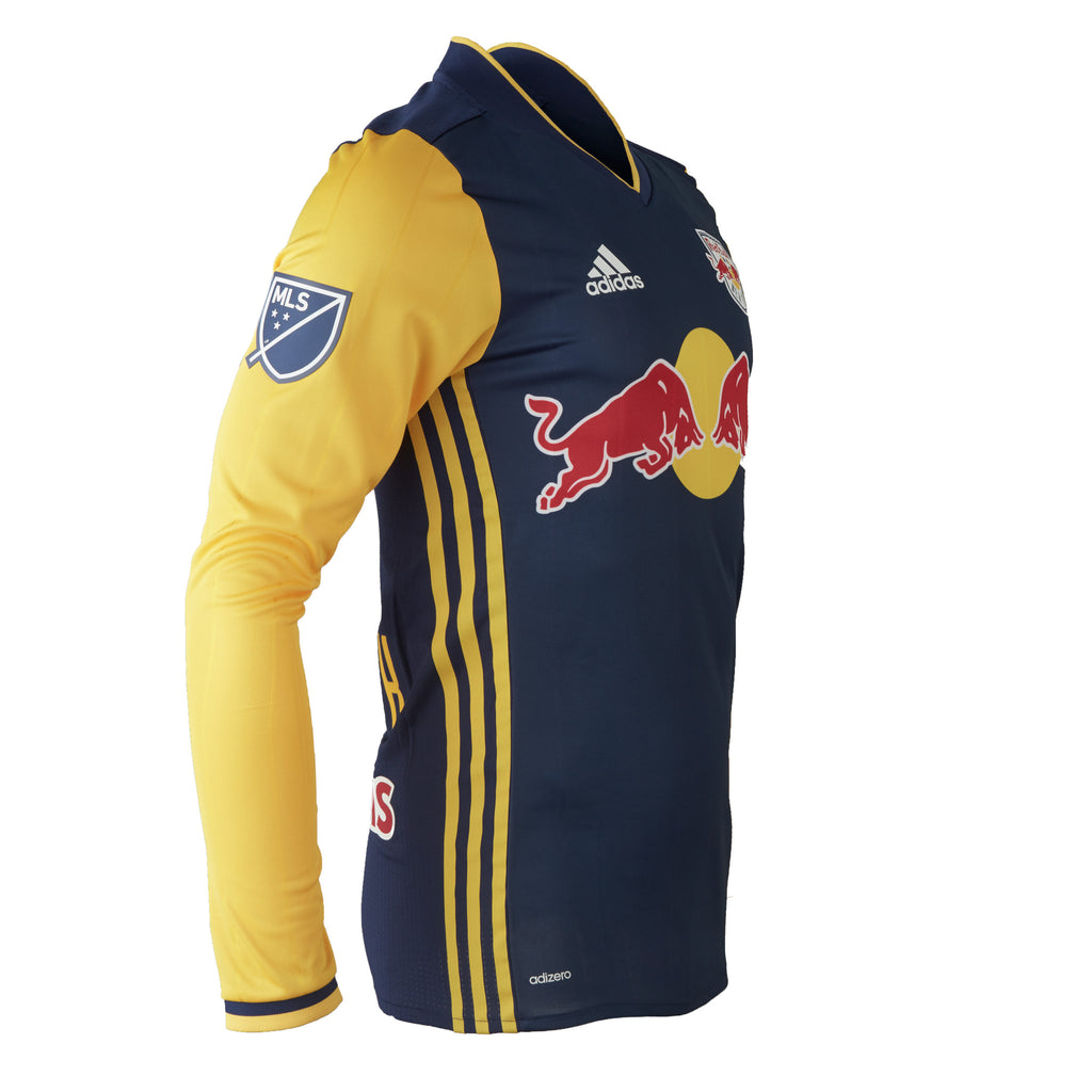 New York Red Bulls adidas 2016 Authentic Secondary Long Sleeve Jersey