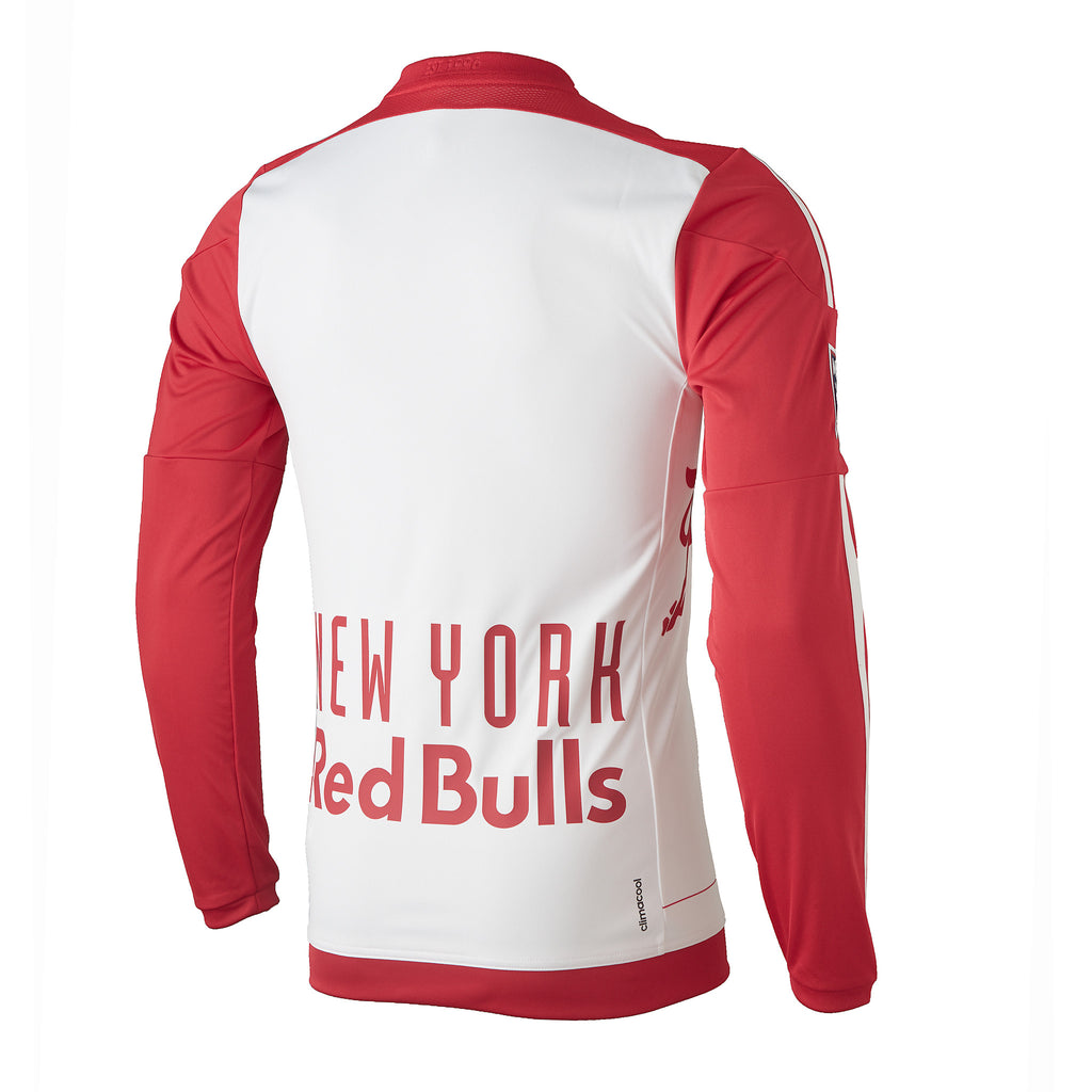 New York Red Bulls adidas 2016 Authentic Primary Long Sleeve Jersey