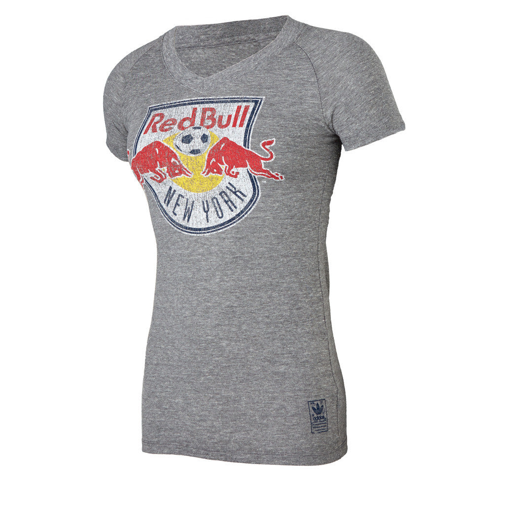 New York Red Bulls Women's adidas Supersize Fan V-Neck Tee