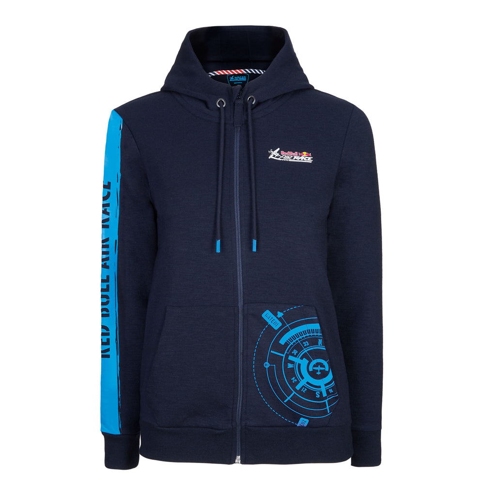 Red Bull Air Race Women's Compass Zip Hoodie | Red Bull Shop US