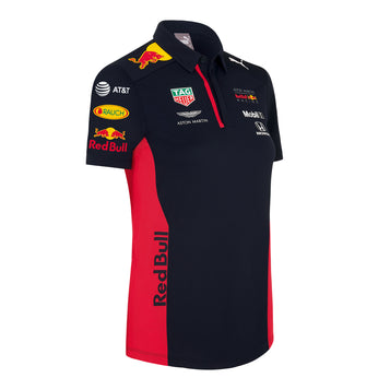 Red Bull Racing Women's Official Teamline Polo Shirt | Red ...