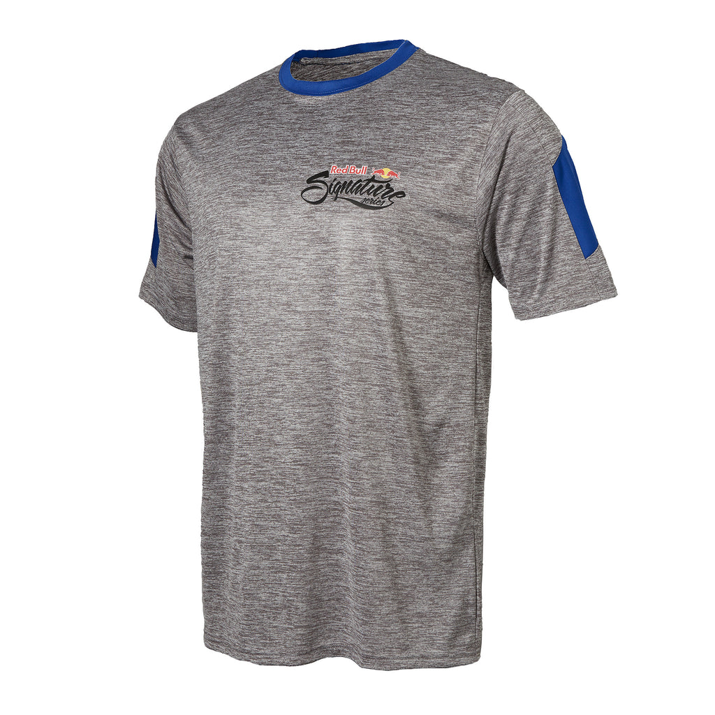 Red Bull Signature Series Men's Space Dye Performance Stripe Tee