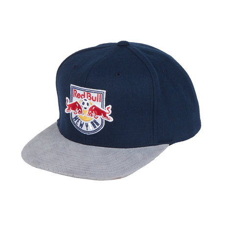05dd09d594f New York Red Bulls Mitchell   Ness Winter Suede Perforated Strapback