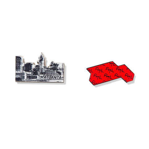 Red Bull Conquest Map & City Pin Collector's Set