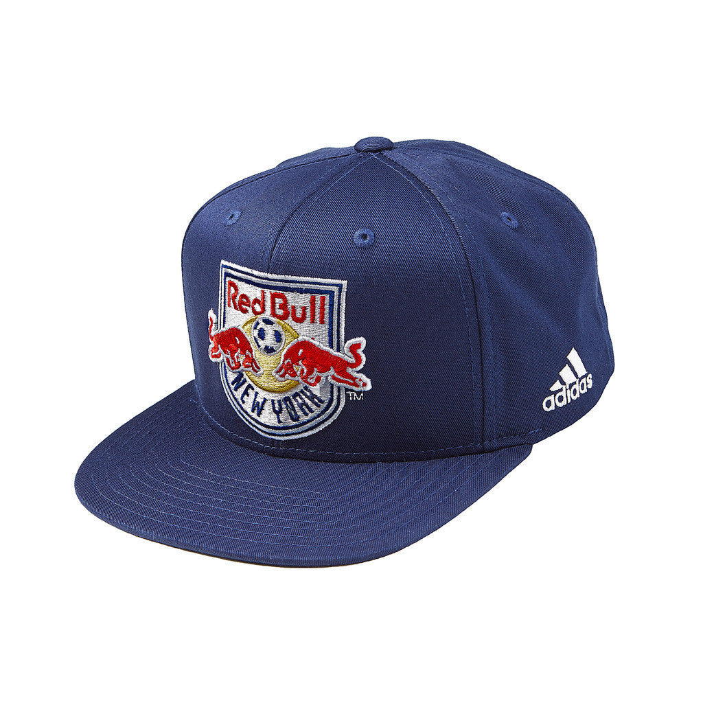 New York Red Bulls adidas Oversized Logo Snapback Hat