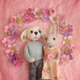 CR151 | Puppy & Bunny with Flowers
