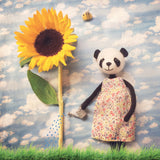 CR158 | Panda with her sunflower