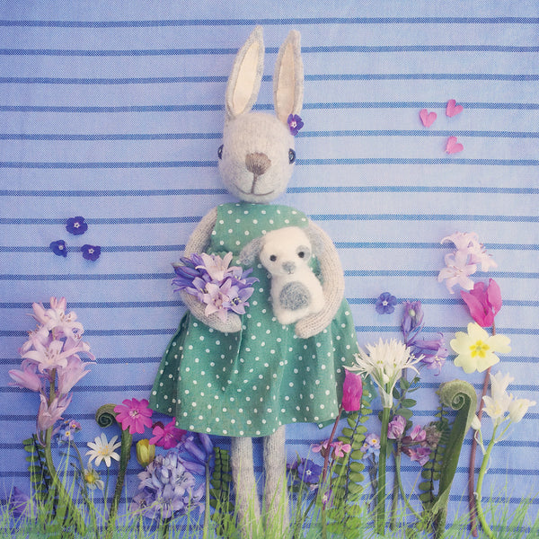 CR167 | Beautiful bunny with flowers