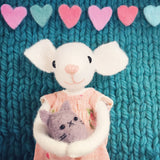 CR181 |MISS MOUSE & BABY KITTEN