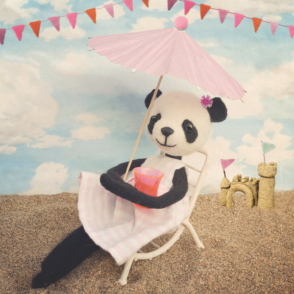 CR188 | PANDA CHILLING ON BEACH
