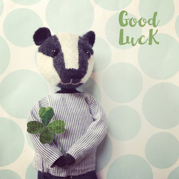 Letters103| GOOD LUCK BADGER