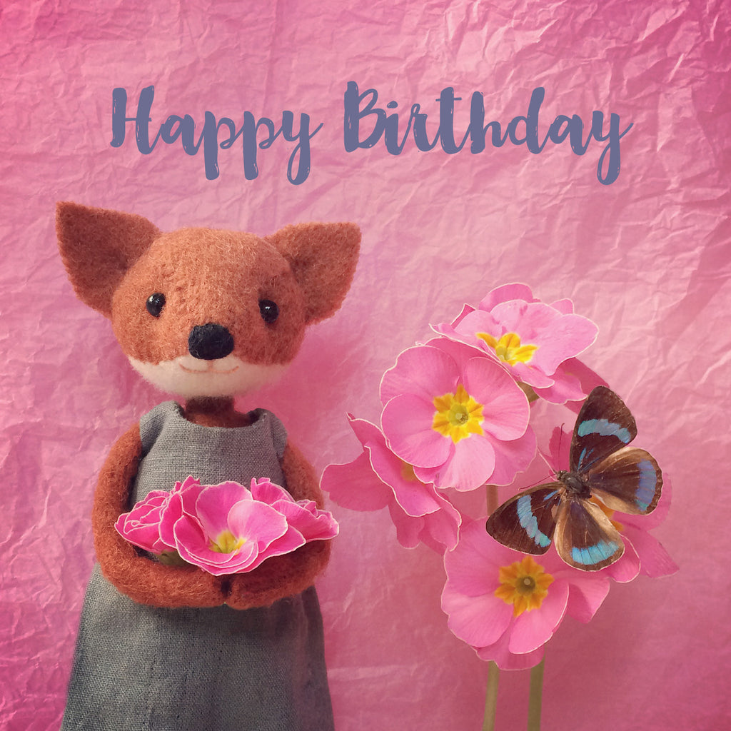happy birthday fox Letters42 | Happy Birthday Fox & Butterfly | Pippi & Me happy birthday fox