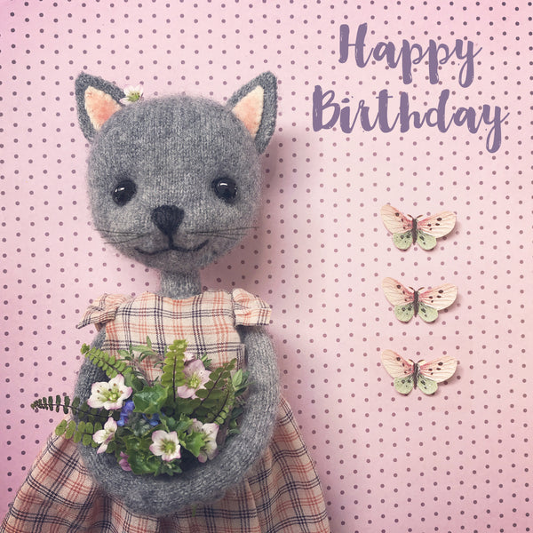 Letters97 | KITTEN WITH FLOWERS