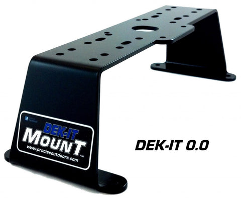 Dek-It Electronics Deck Mount 0.0 Degree Black